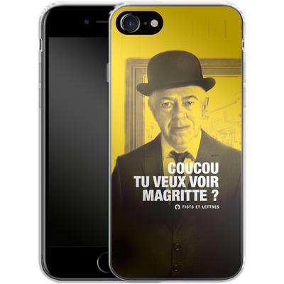 Apple iPhone 8 Silikon Handyhuelle - Tu Veux Voir Magritte von Fists Et Lettres