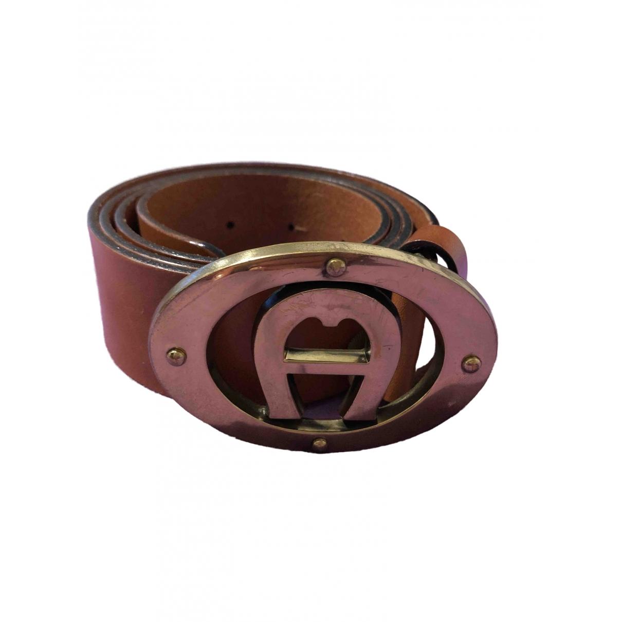 Etienne Aigner \N Brown Leather belt for Women S International