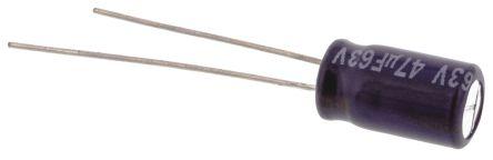 Panasonic 47μF Electrolytic Capacitor 63V dc, Through Hole - ECA1JM470 (5)