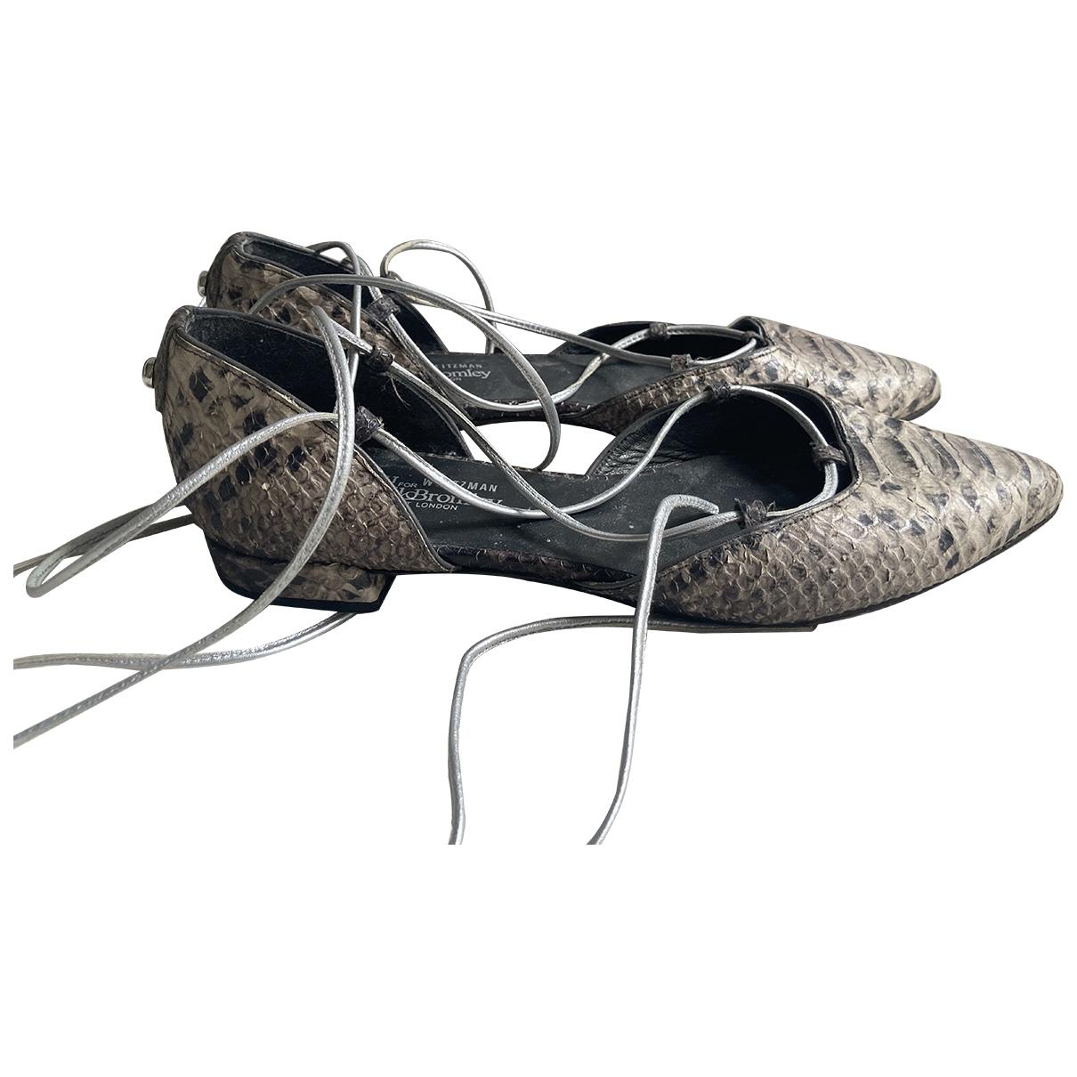 Russell & Bromley \N Ballerinas in  Braun Wasserschlangen