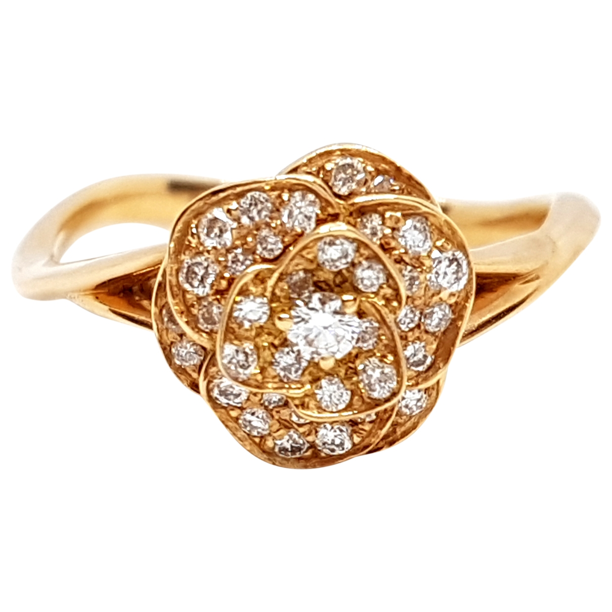 Non Signé / Unsigned Motifs Floraux Pink Pink gold ring for Women \N