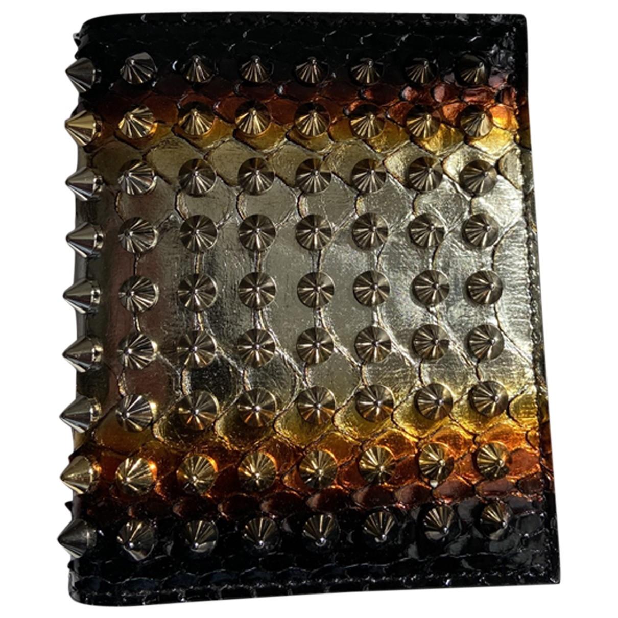 Christian Louboutin \N Multicolour Python wallet for Women \N