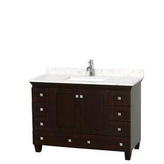 Acclaim 48 Inch Single Vanity, Cultured Marble Top (Espresso, Dark-Vein Carrara Cultured Marble)