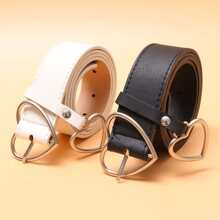2pcs Heart Buckle Belt