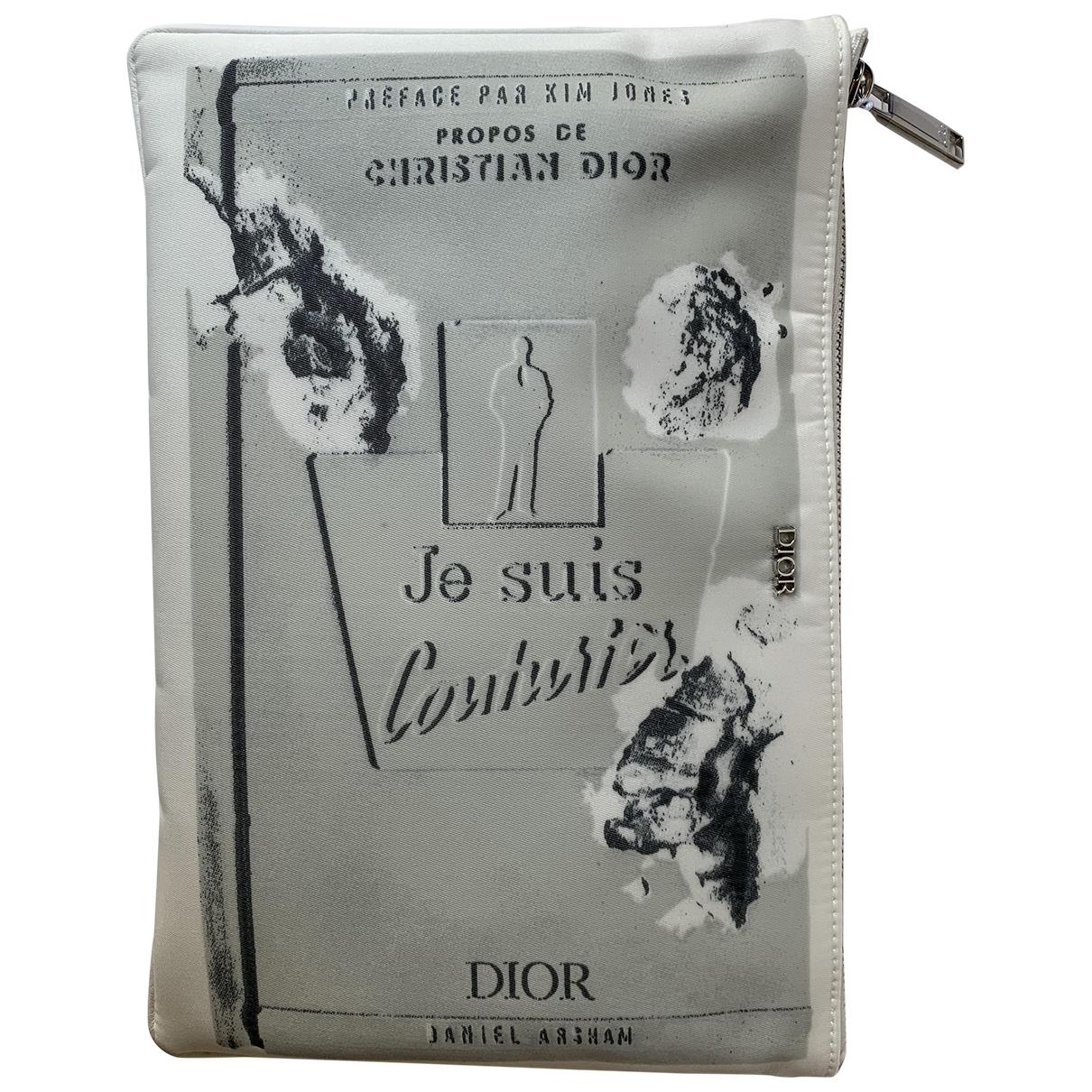 Dior Homme - Petite maroquinerie   pour homme en toile - blanc
