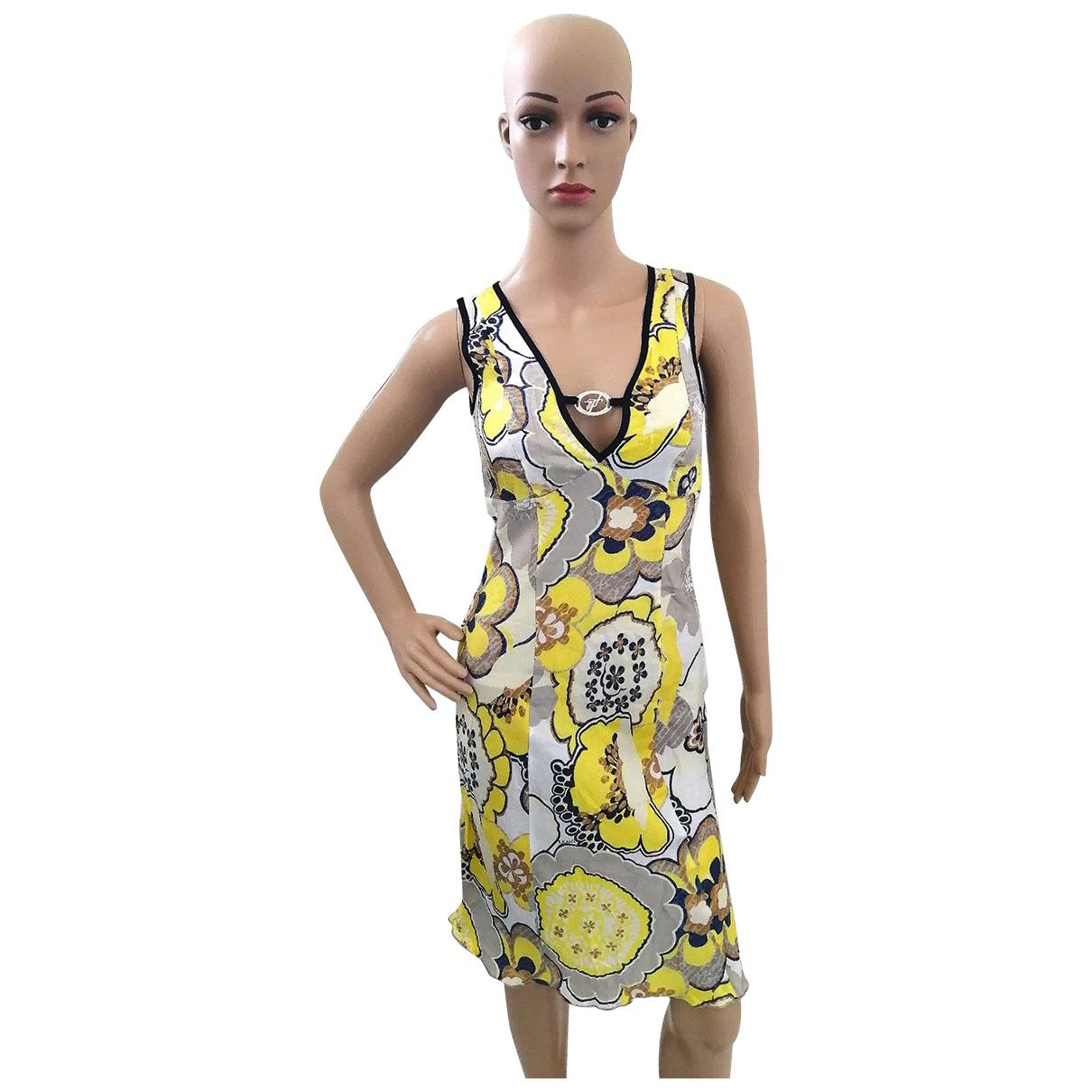 Trussardi Jeans \N Kleid in  Gelb Viskose