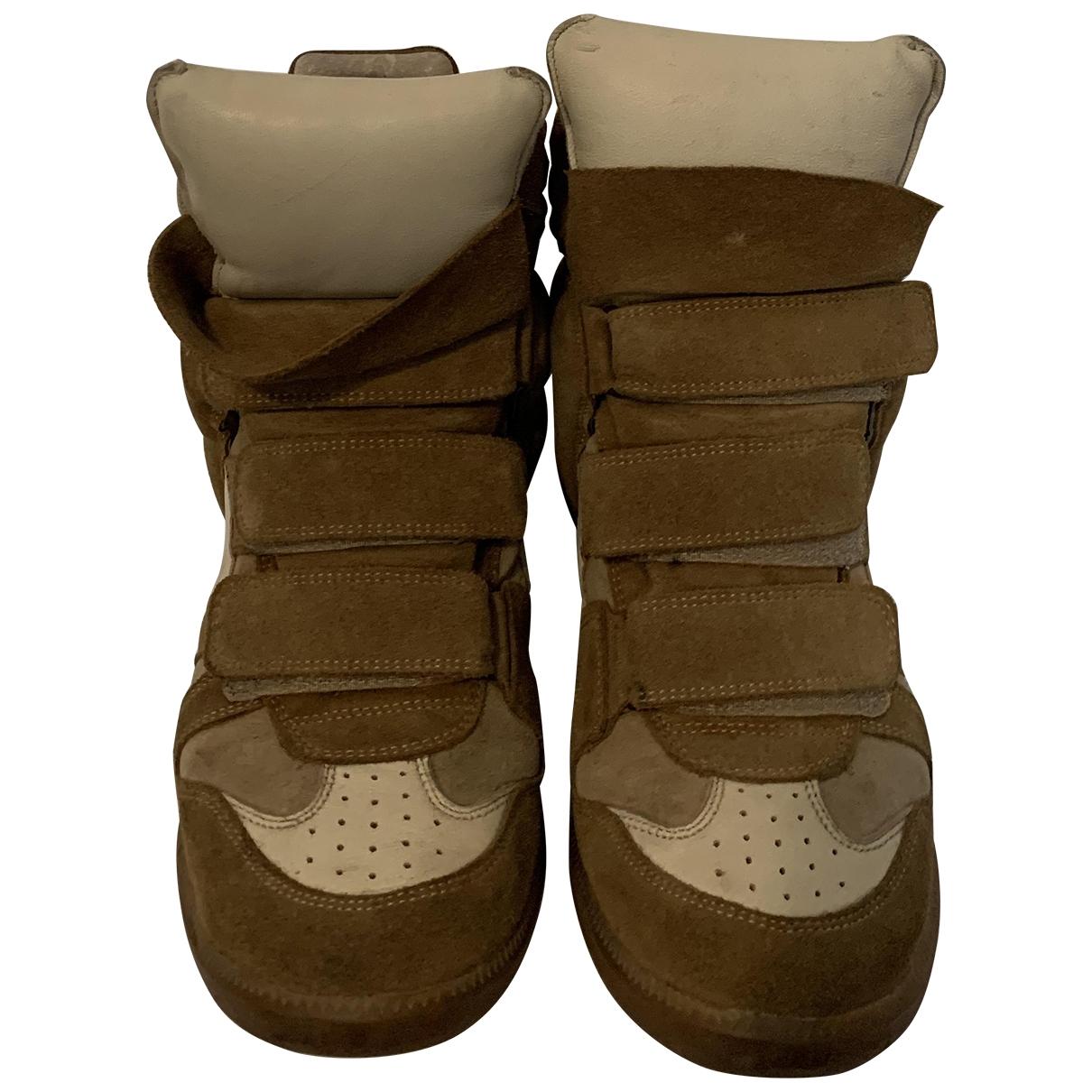 Isabel Marant Beckett Sneakers in  Braun Veloursleder