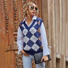 Pulloverste mit Argyle Muster