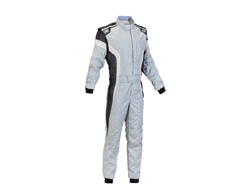OMP Racing IA0185008956 FIA 2 Layer Tecnica-S Racing Suit Grey, White and Black: 56