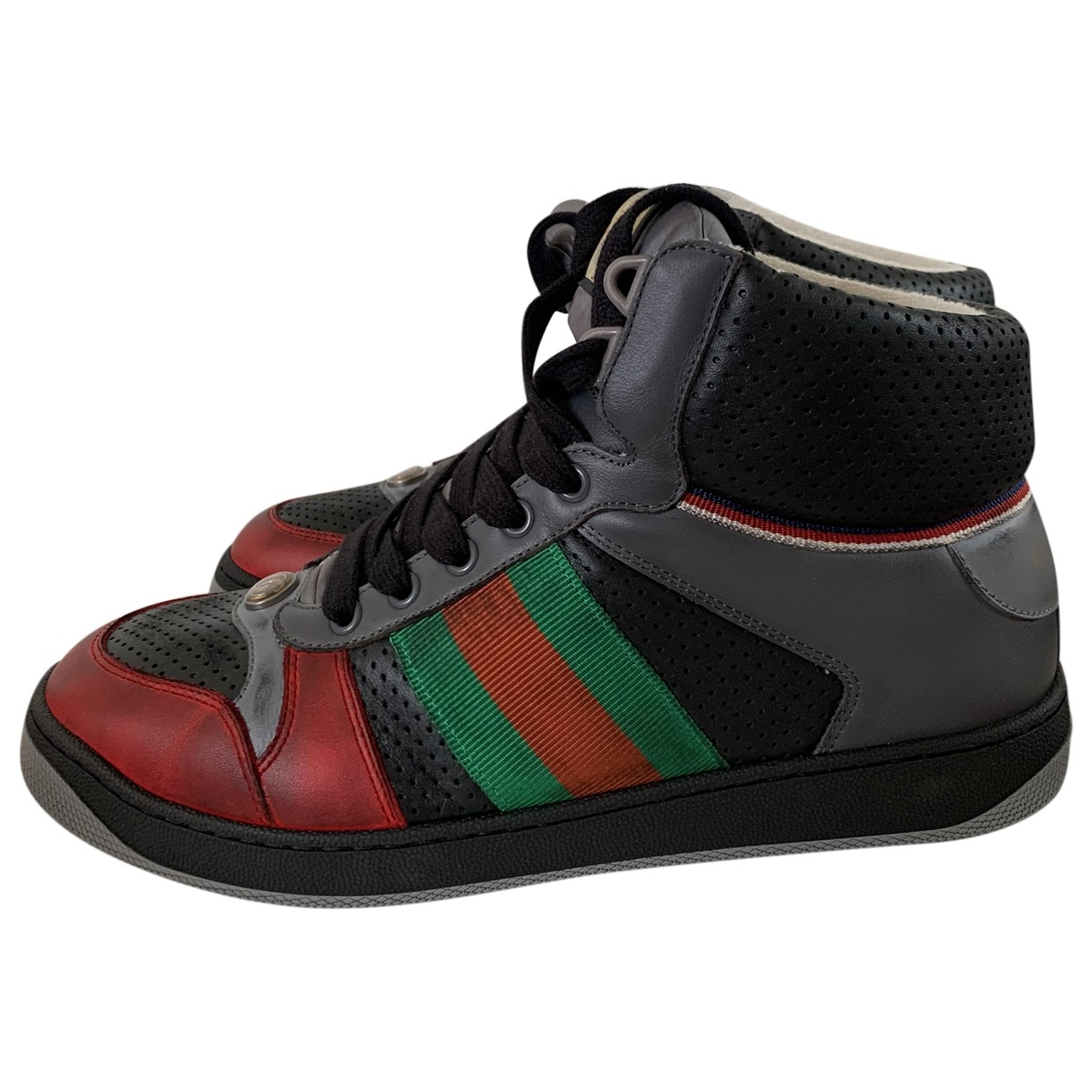 Gucci Screener Multicolour Leather Trainers for Men 7 UK