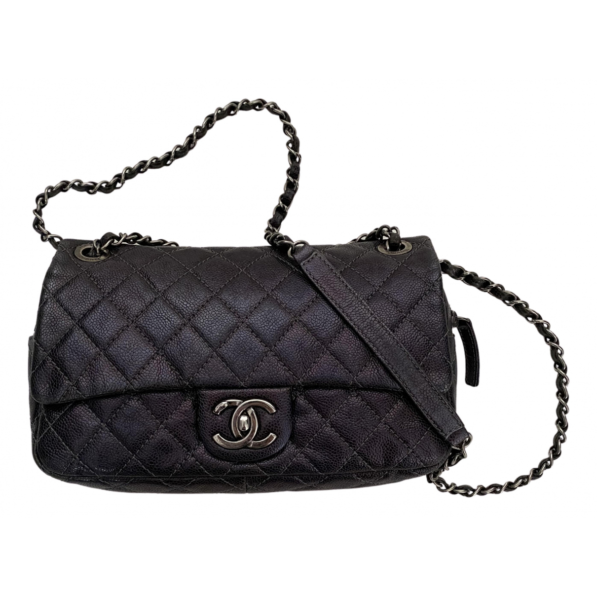 Chanel Trendy CC Metallic Leather handbag for Women N