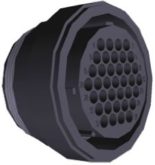 TE Connectivity Connector, 37 contacts Cable Mount Plug, Crimp