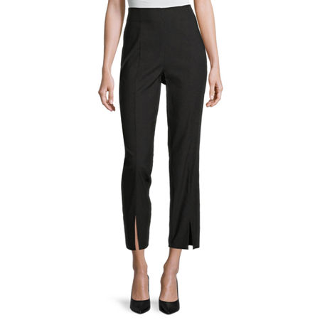 Worthington Womens Ankle Pull-On Pants, X-small , Black