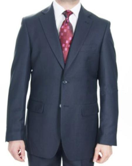 2 Button Textured Pateern Navy Suit Mens Cheap