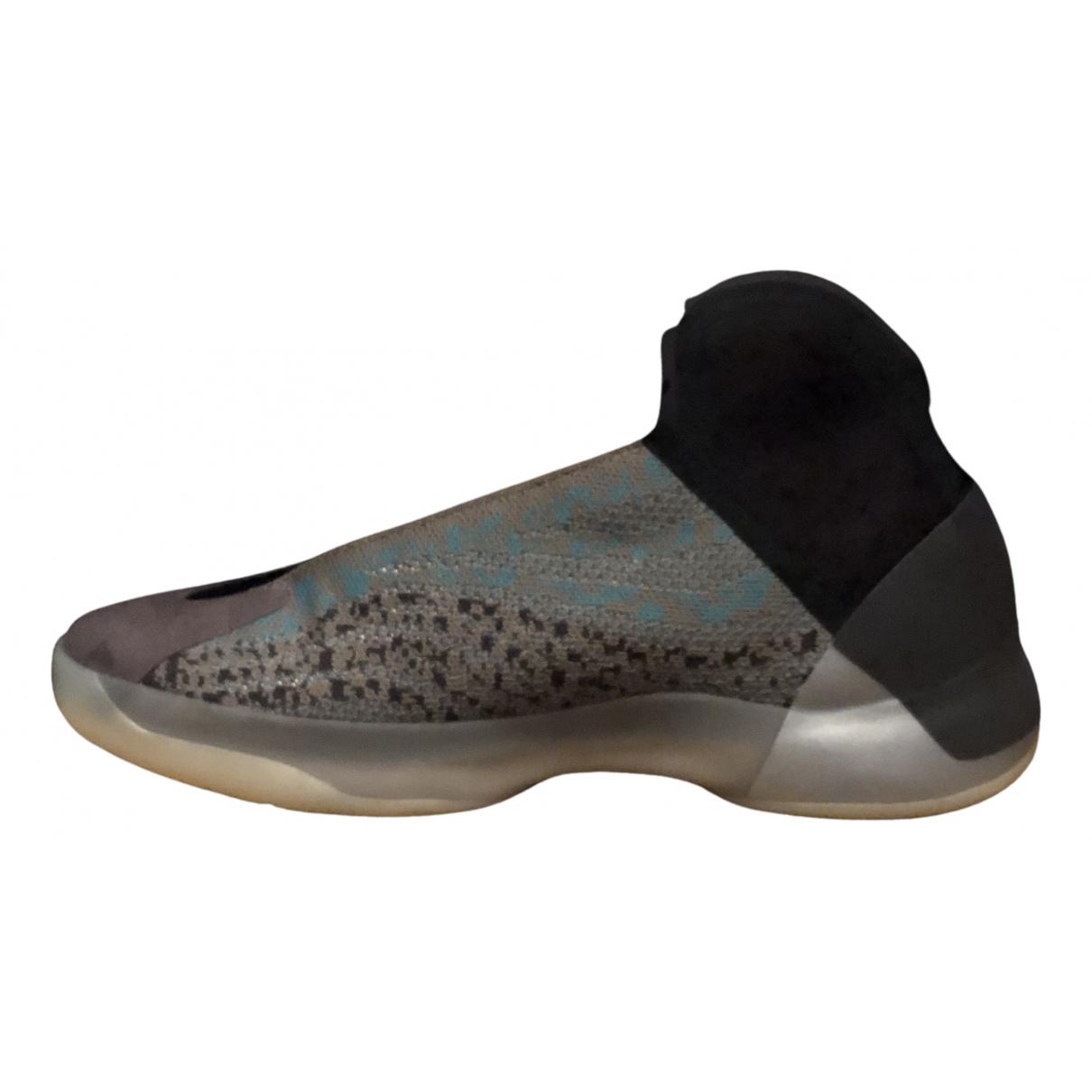 Yeezy X Adidas - Baskets QNTM BSKTBL pour homme en toile - gris