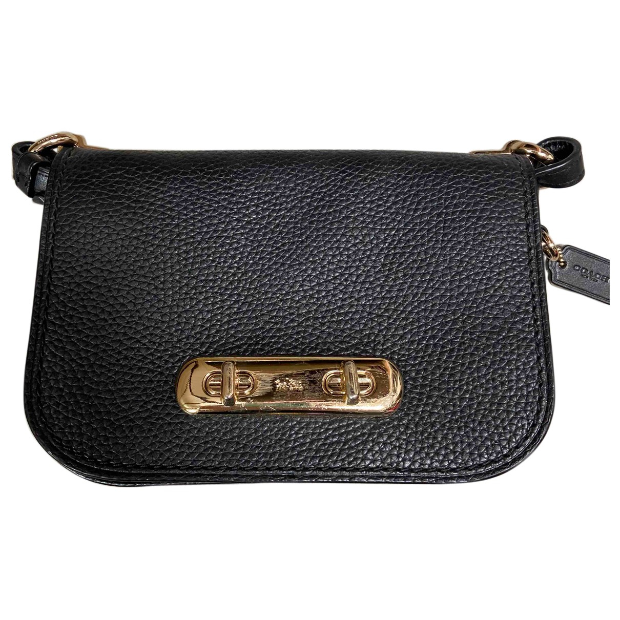 Coach Smooth Crossbody  Black Leather Clutch bag for Women N