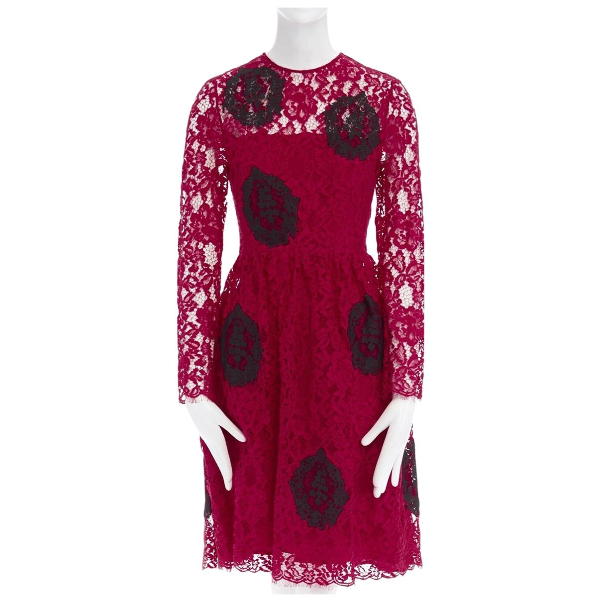 Huishan Zhang \N Kleid in  Rot Baumwolle
