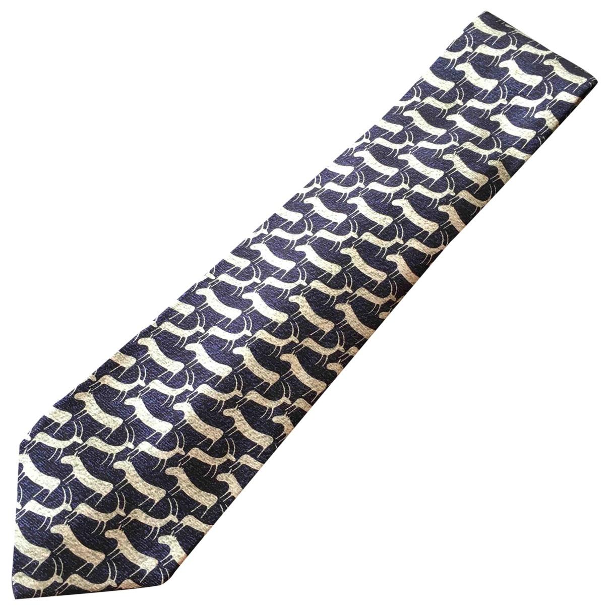 Bvlgari \N Krawatten in  Blau Seide