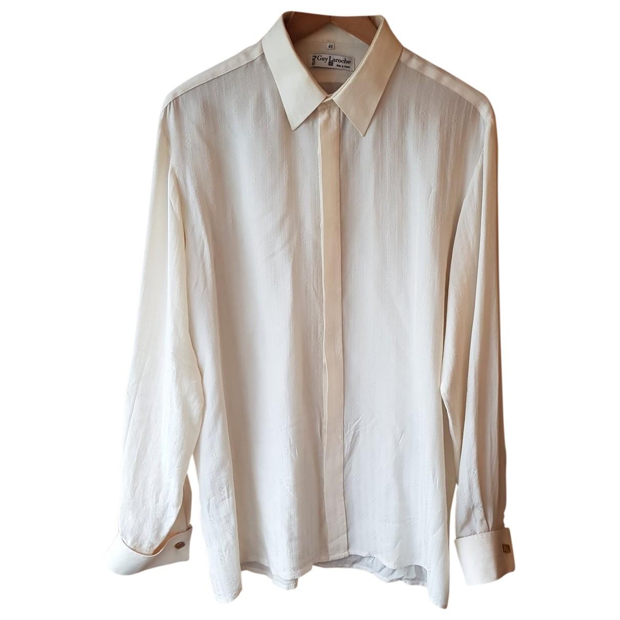 Guy Laroche - Chemises   pour homme en soie - blanc