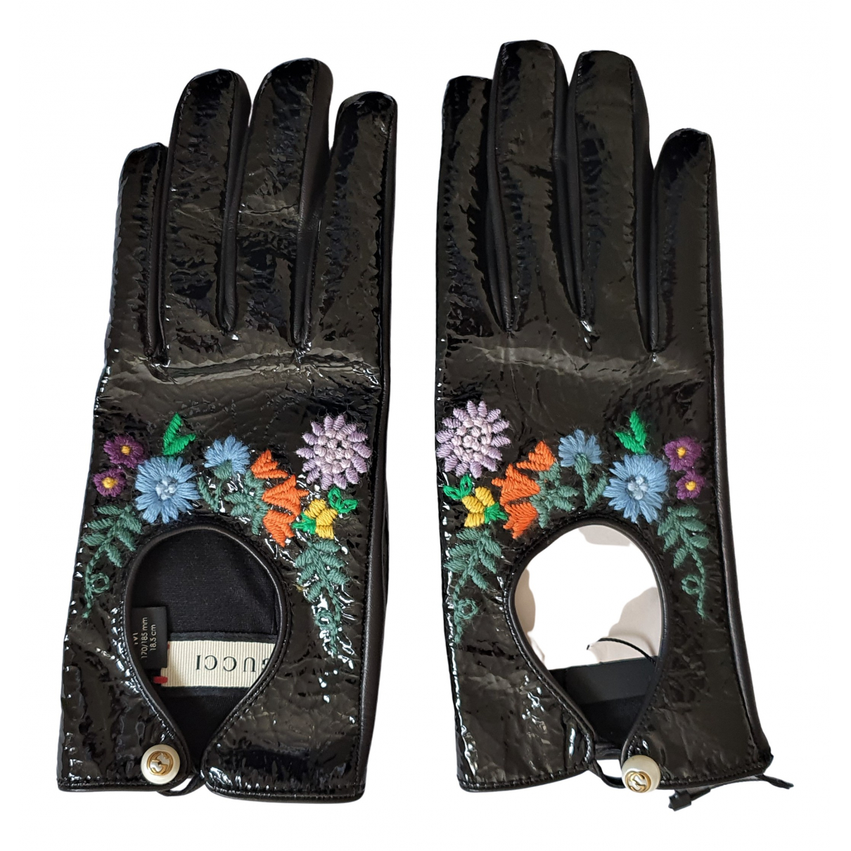 Gucci \N Black Leather Gloves for Women M International