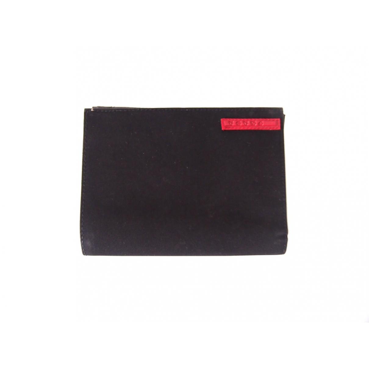 Prada - Portefeuille Tessuto  pour femme en toile - noir