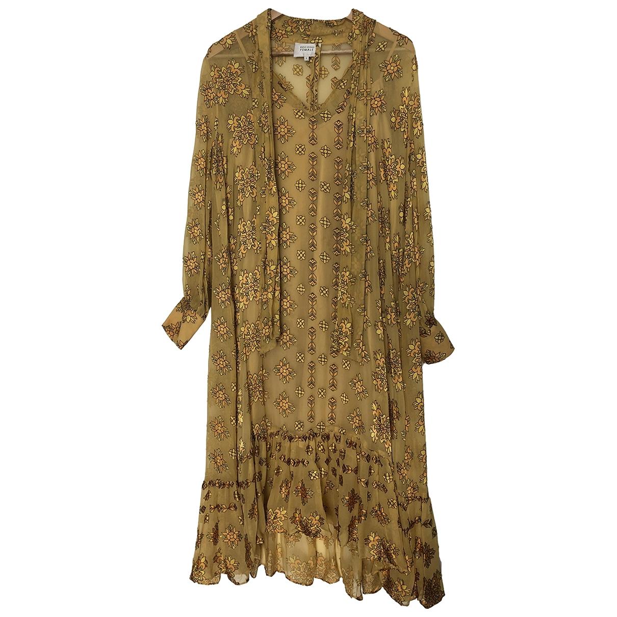 Second Female \N Kleid in  Gelb Seide