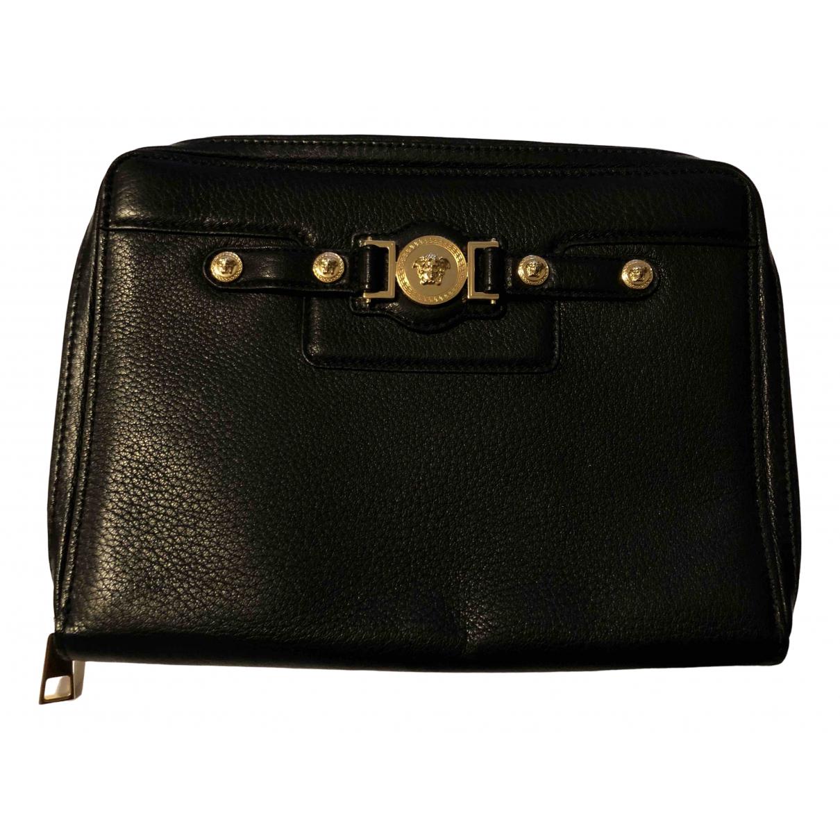 Versace - Accessoires   pour lifestyle en cuir - noir
