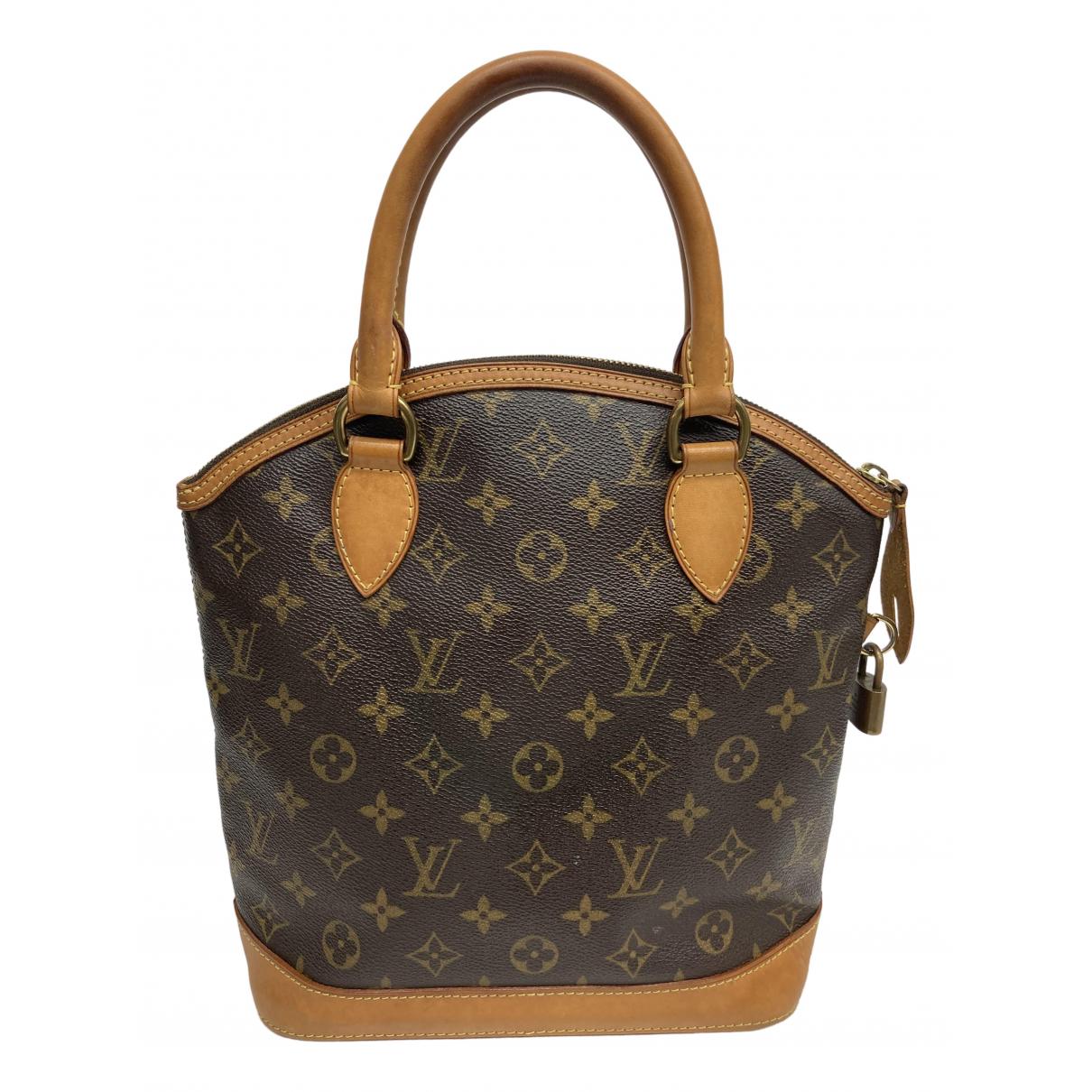 Louis Vuitton Lockit Handtasche in  Braun Leinen