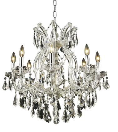 2801D26C/RC 2801 Maria Theresa Collection Hanging Fixture D26in H26in Lt: 8+1 Chrome Finish (Royal Cut