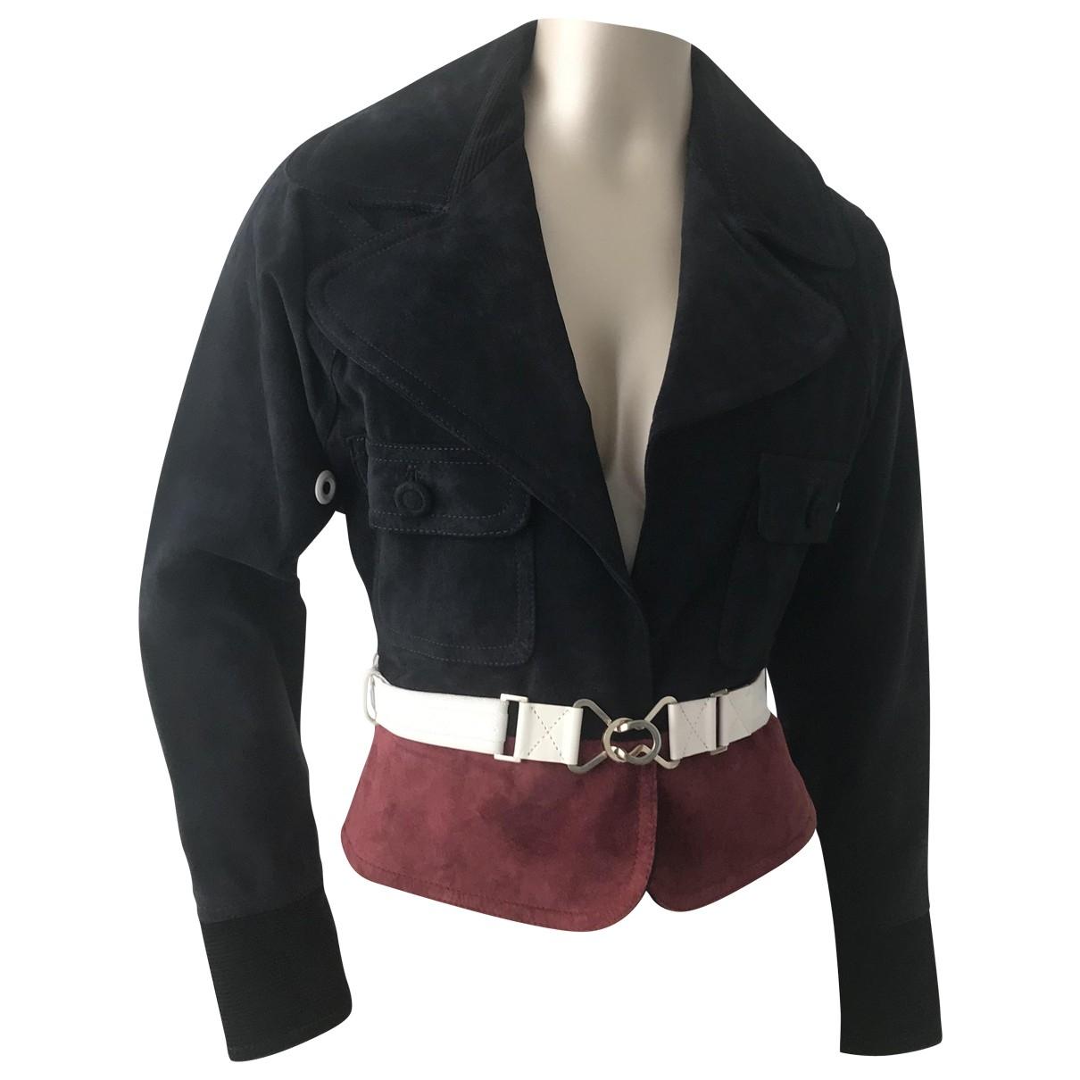 Gianfranco Ferré \N Navy Suede jacket for Women 38 IT