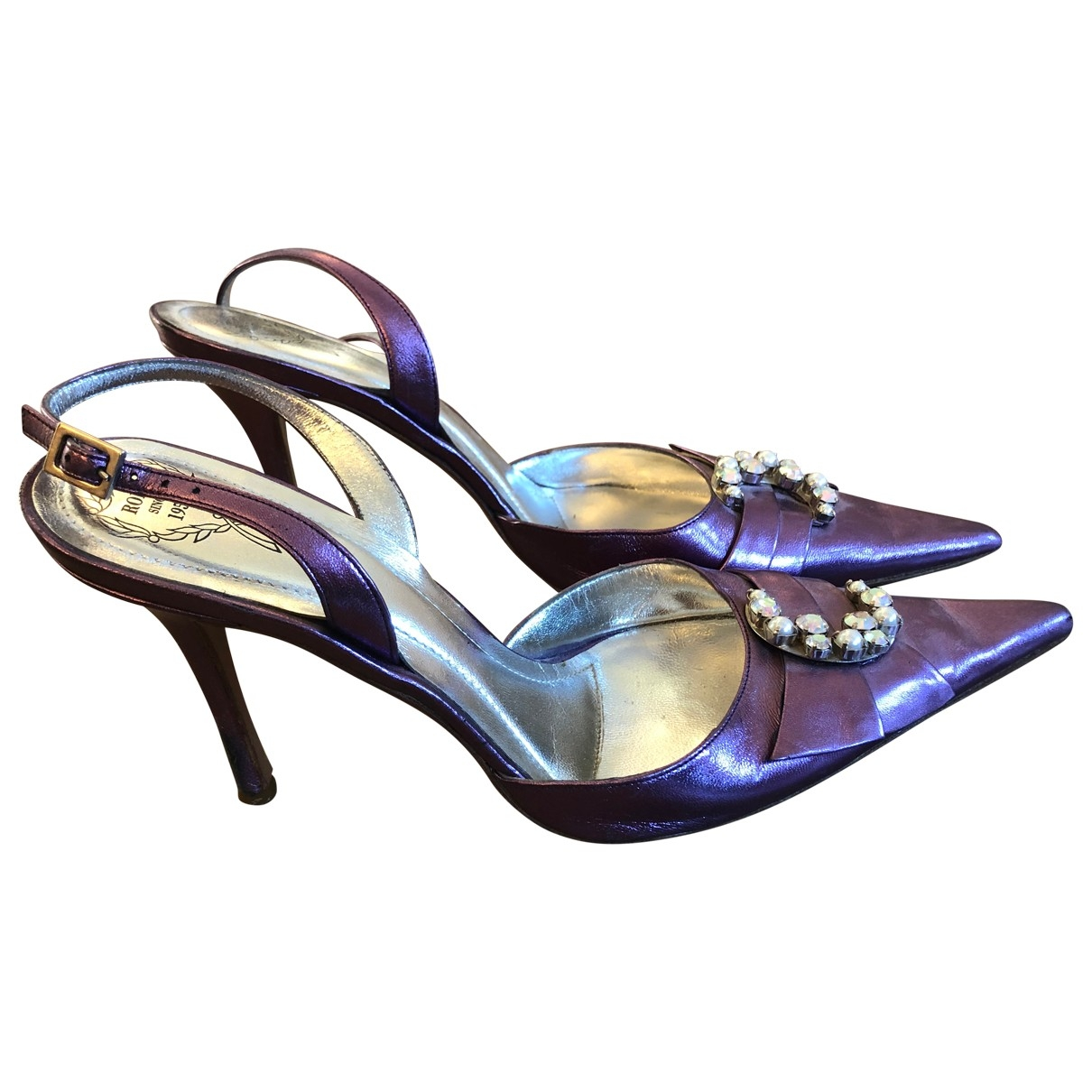 Rodo \N Purple Leather Heels for Women 38.5 IT