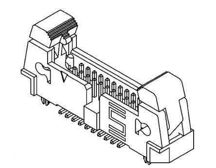 Samtec , EHT, 10 Way, 2 Row, Straight PCB Header