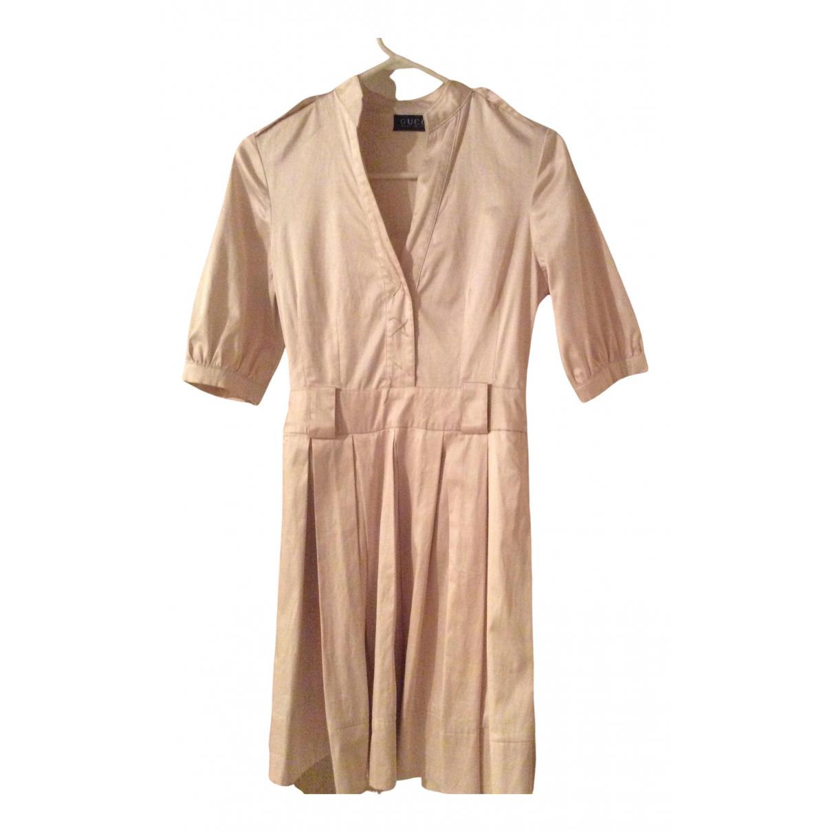 Gucci \N Kleid in  Beige Samt