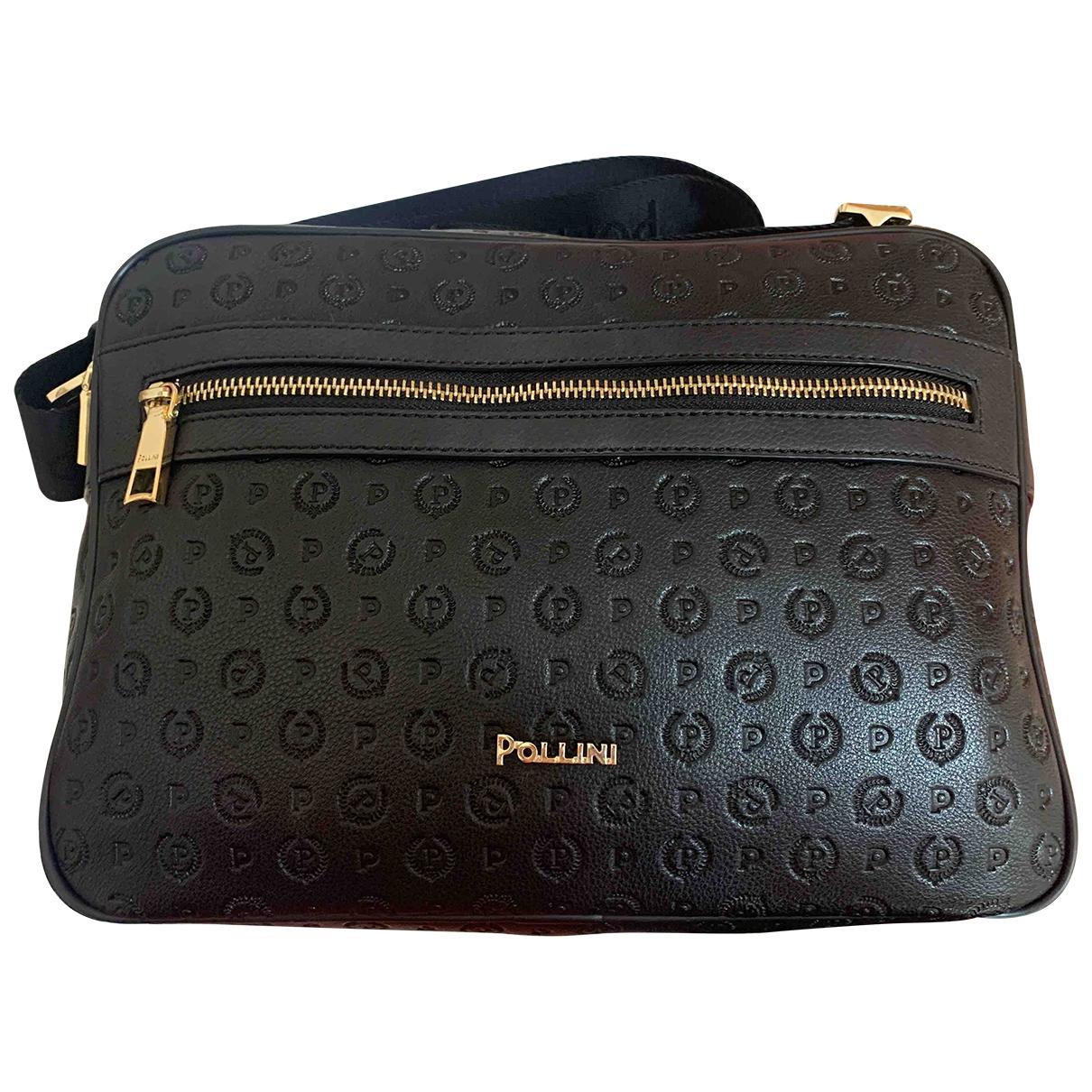 Pollini - Sac a main   pour femme en cuir - noir