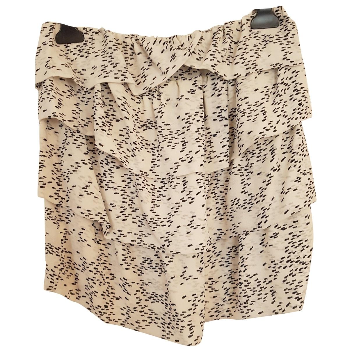 Bel Air \N Ecru Silk skirt for Women 38 FR