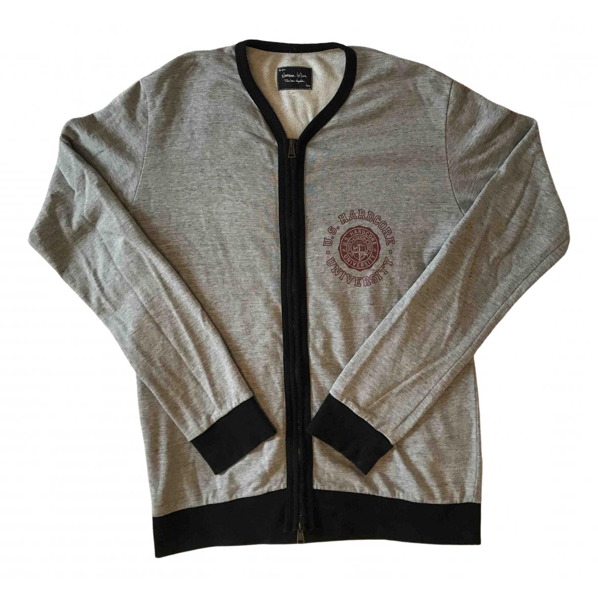 Number Nine - Takahiro Miyashita \N Pullover.Westen.Sweatshirts  in  Grau Baumwolle