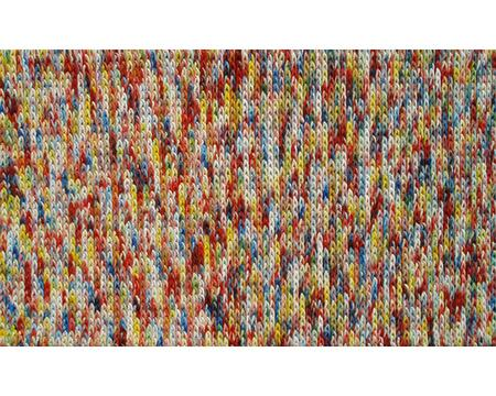 41023B 2.8 x 4.8 ft. Braided Bunch Area Rug  in Red