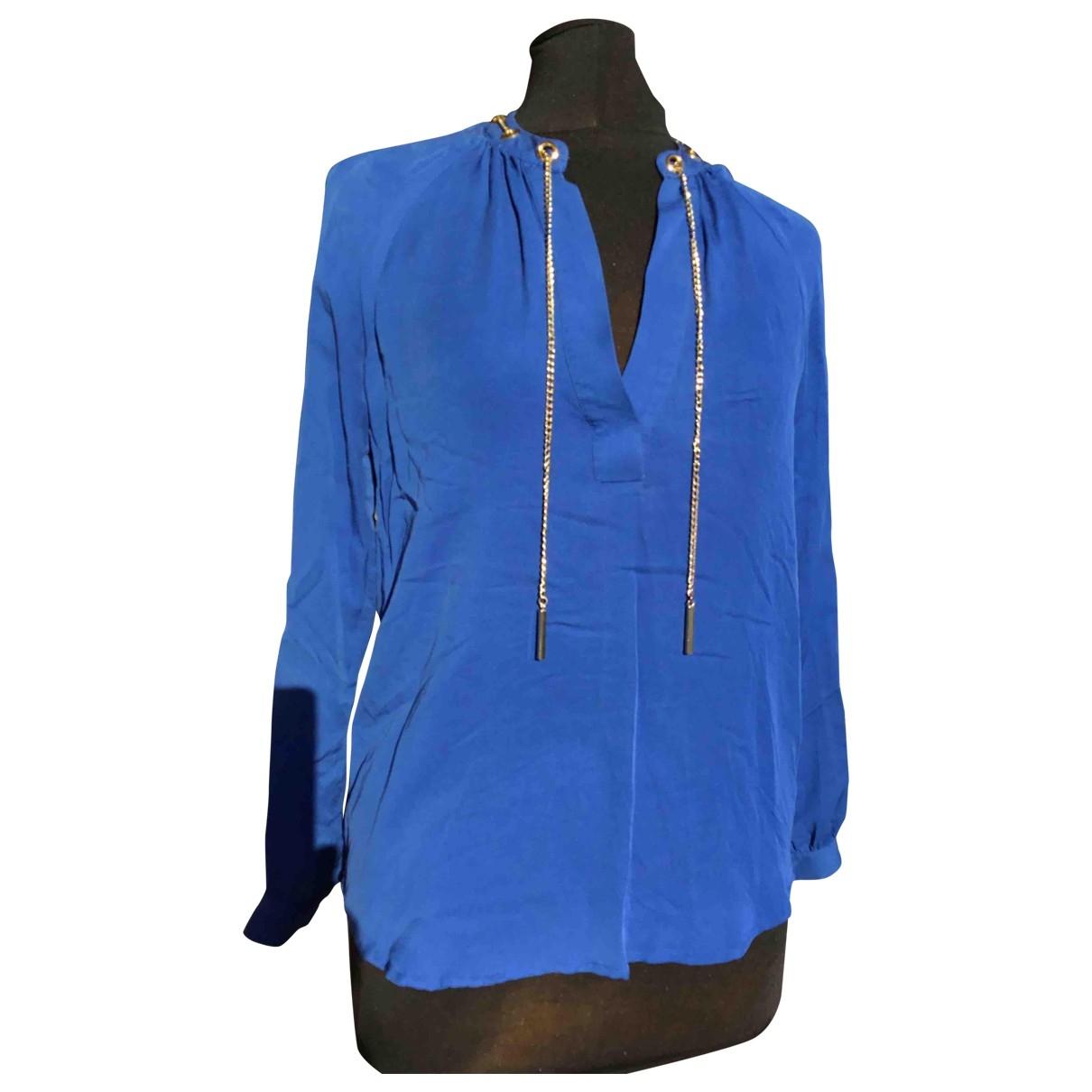 Michael Kors - Top   pour femme en soie - bleu