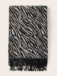 Zebra Stripe Pattern Scarf