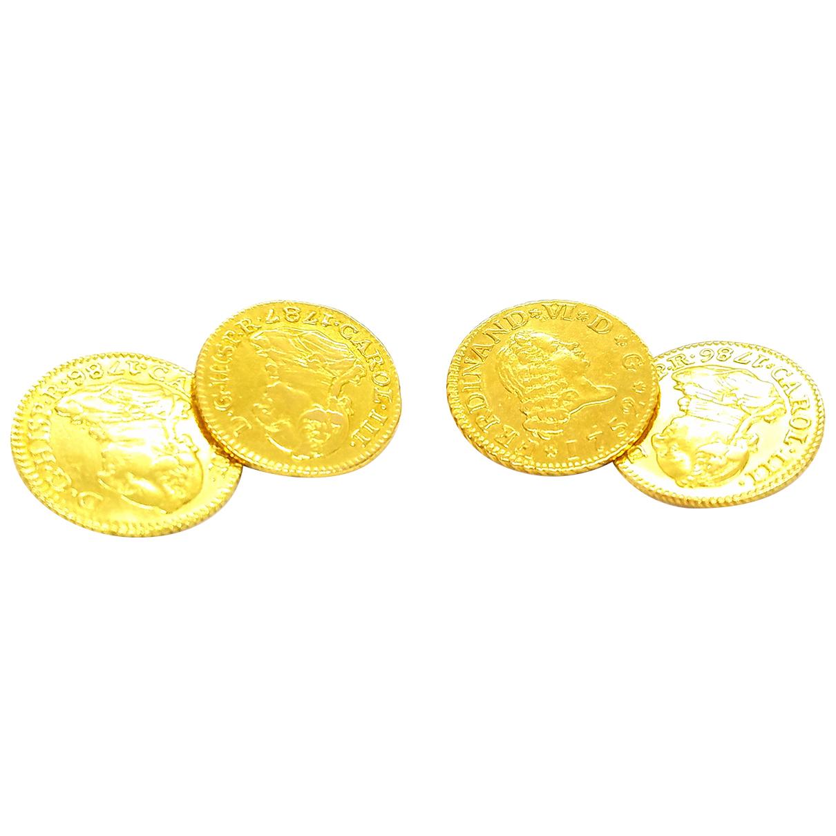 Autre Marque \N Manschettenknopfe in  Gold Gelbgold