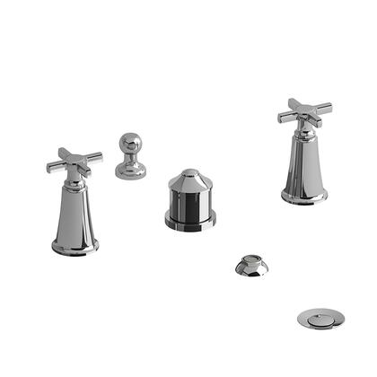 Momenti MMRD09+BK 4-Piece Bidet Faucet with Integrated Vacuum Breaker with + Cross Handles  in