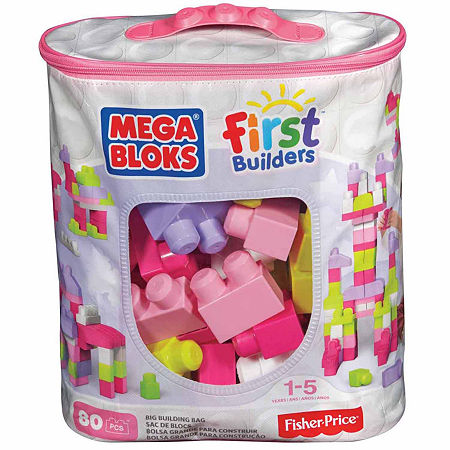 Mega Bloks First Builders 80pc Big Building Bag, One Size , No Color Family