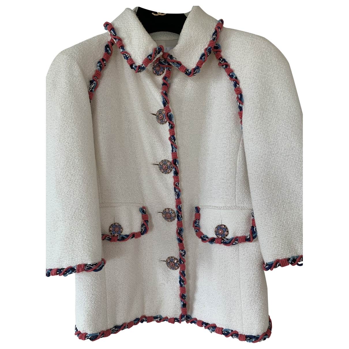 Chanel - Veste   pour femme en coton - blanc