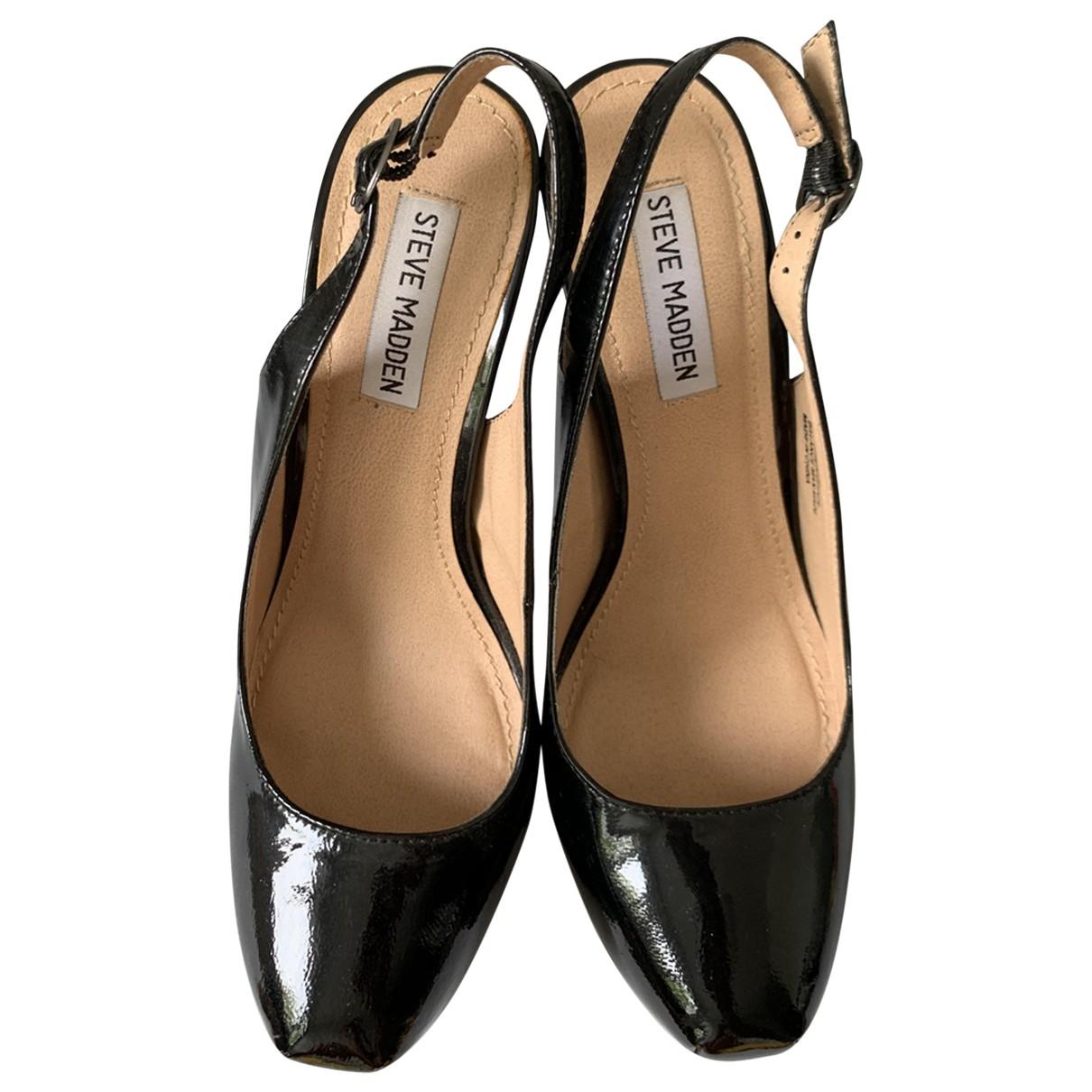 Steve Madden \N Black Patent leather Heels for Women 9.5 US