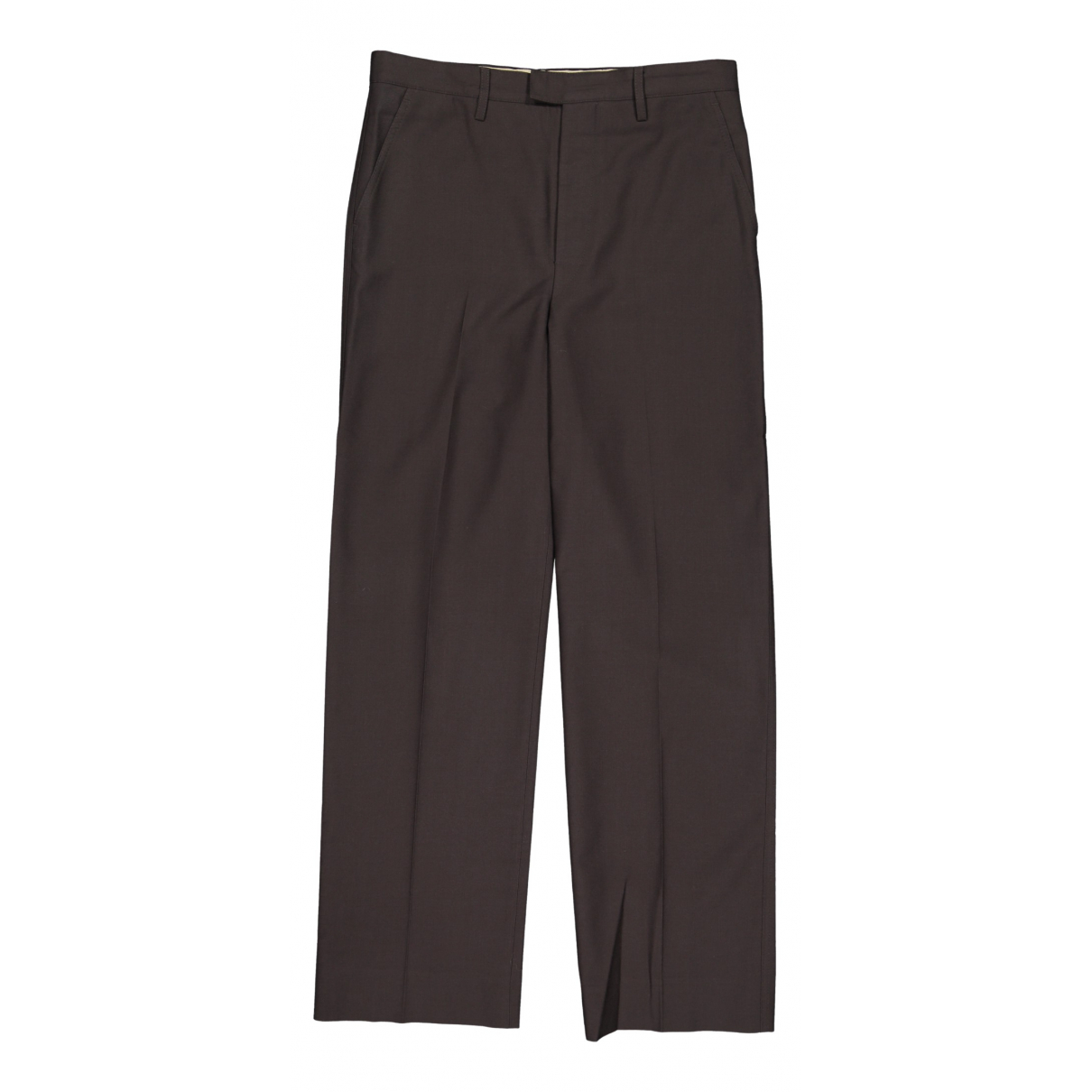 Lemaire N Grey Wool Trousers for Men 50 IT