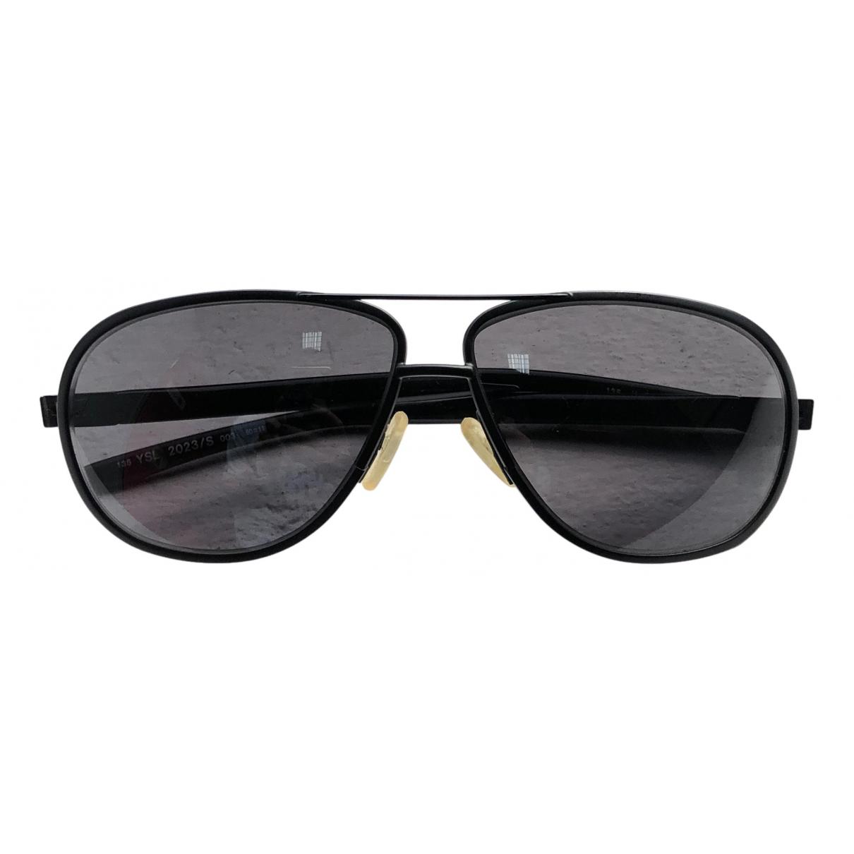 Yves Saint Laurent N Black Metal Sunglasses for Women N