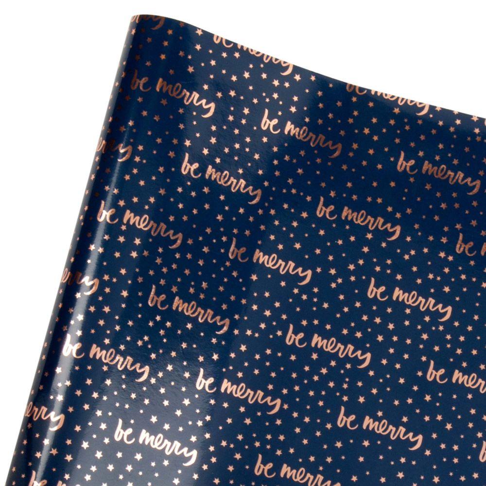 Marineblaues Geschenkband mit Sternenmotiv 2M