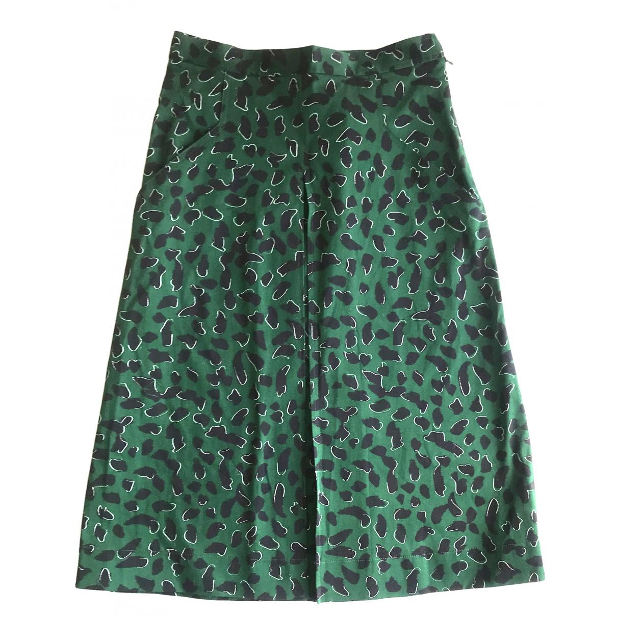 Jil Sander - Jupe   pour femme en coton - elasthane - vert
