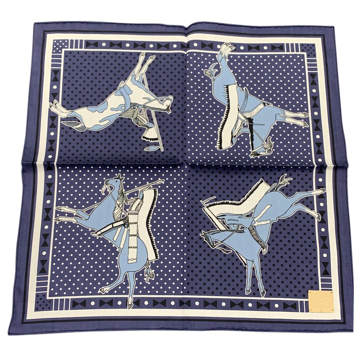 Hermès Bandana 55 Blue Cotton scarf for Women N