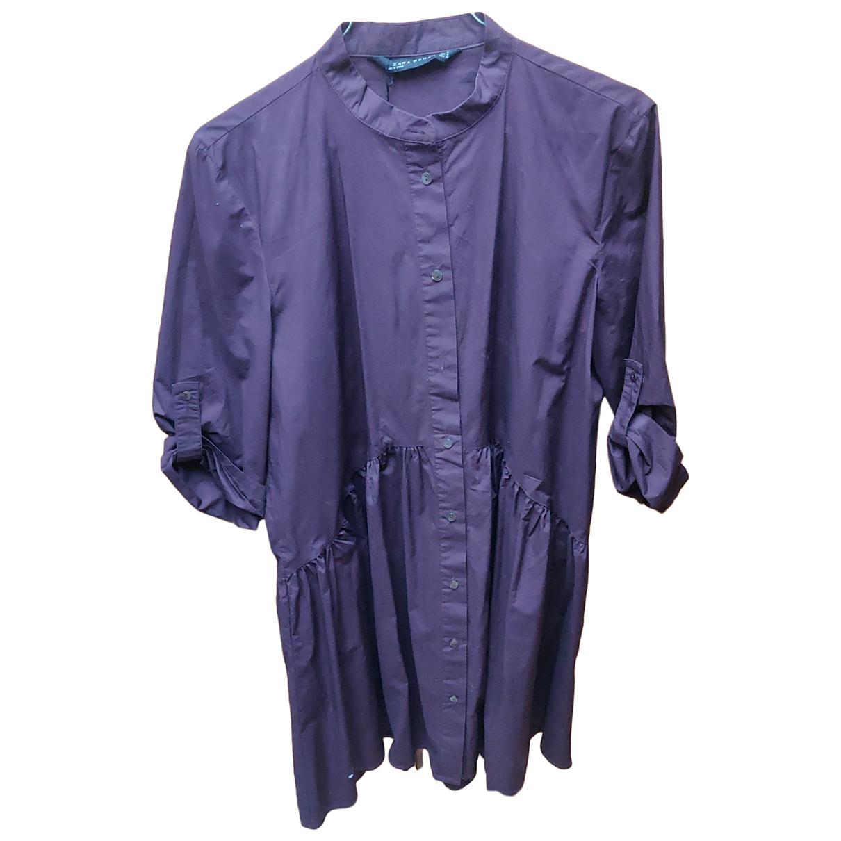 Zara \N Kleid in  Lila Baumwolle